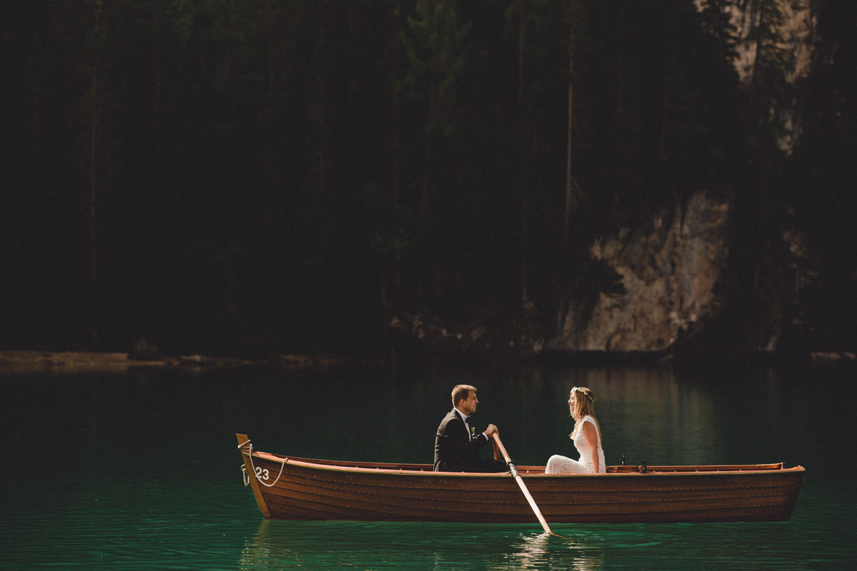 Lago di Braies wedding photographer Italy